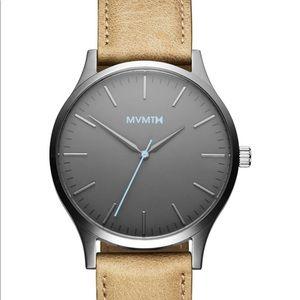 MVMT Men's 40 Series Leather Strap Watch 40mm